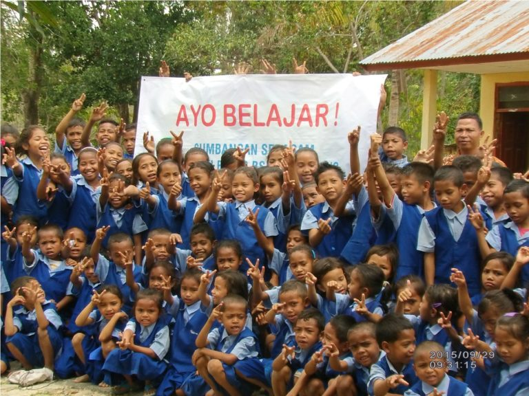 Uniform Donation from BINUS SCHOOL Serpong to Our Friends in Flores, Nusa Tenggara Timur, Indonesia